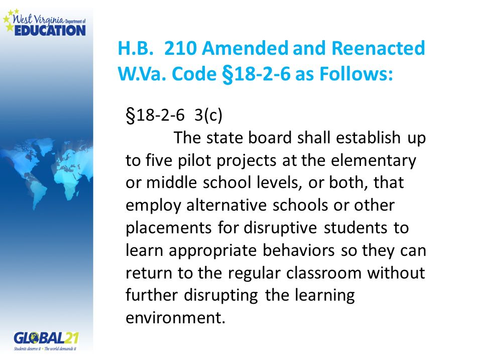 H.B. 210 Amended and Reenacted W.Va.