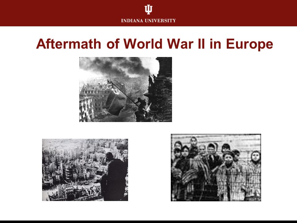 Aftermath of World War II in Europe