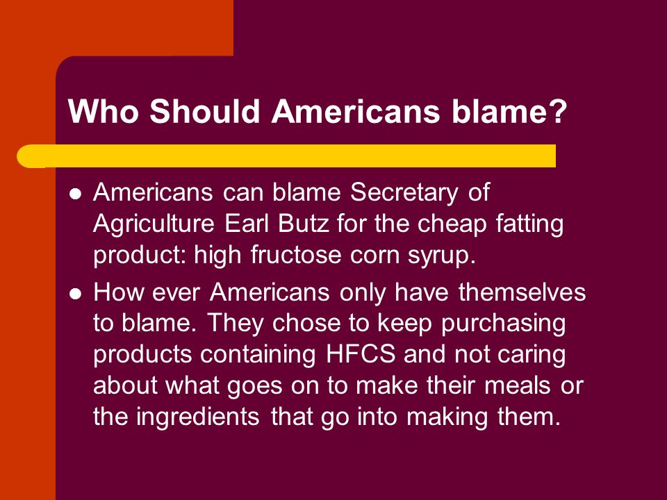 Who Should Americans blame.