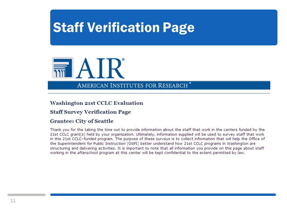 11 Staff Verification Page