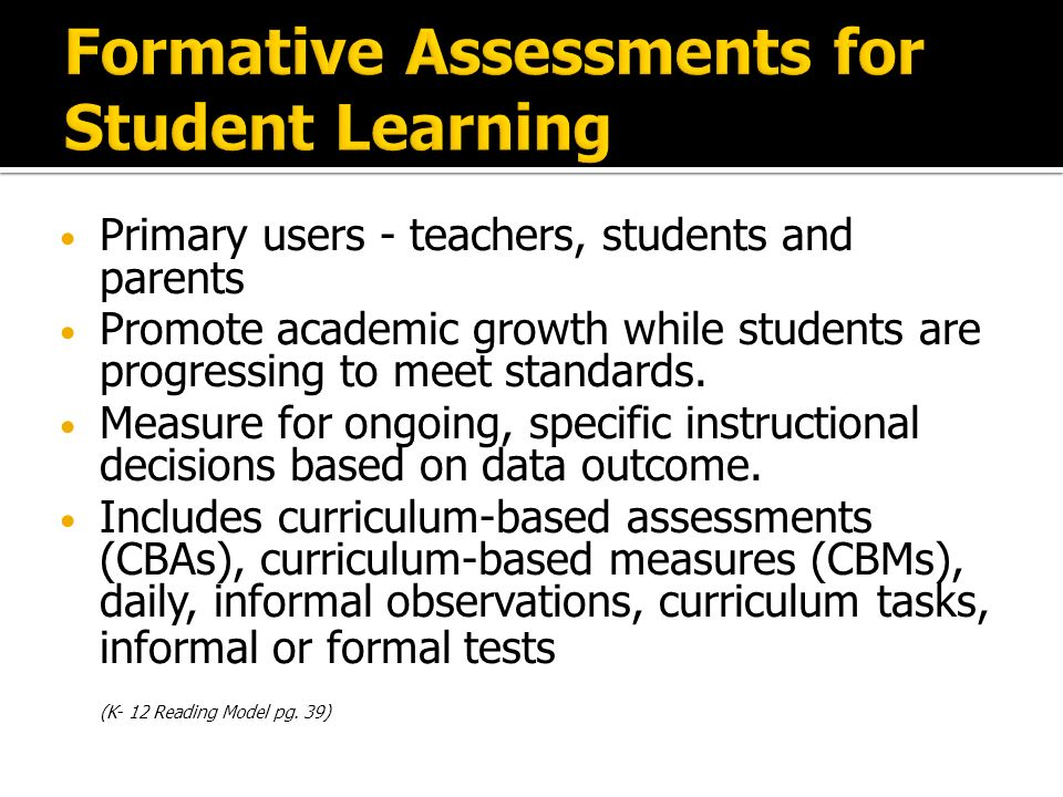 Primary users - teachers, students and parents Promote academic growth while students are progressing to meet standards.
