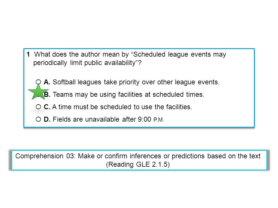 1 What does the author mean by Scheduled league events may periodically limit public availability.