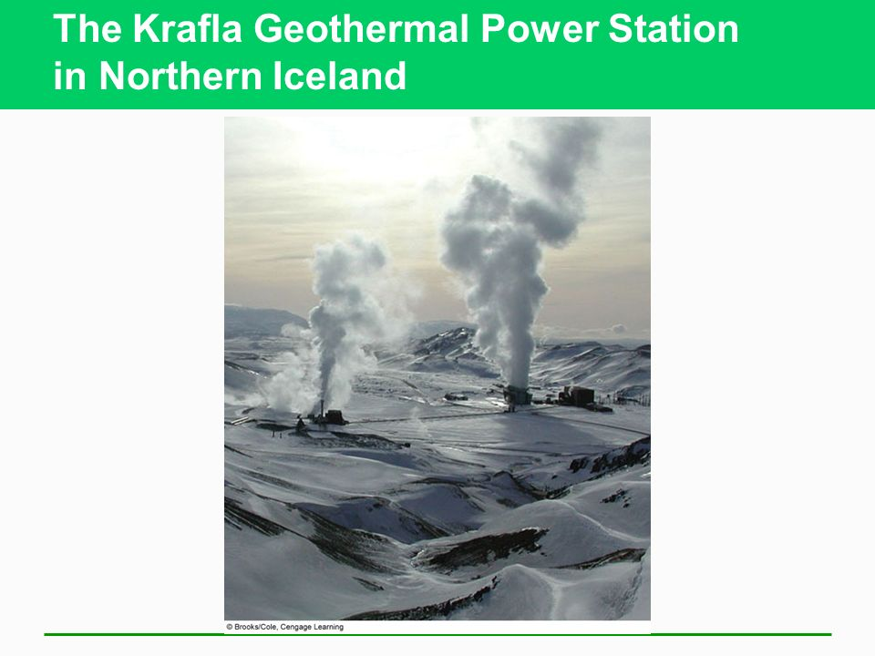 The Krafla Geothermal Power Station in Northern Iceland