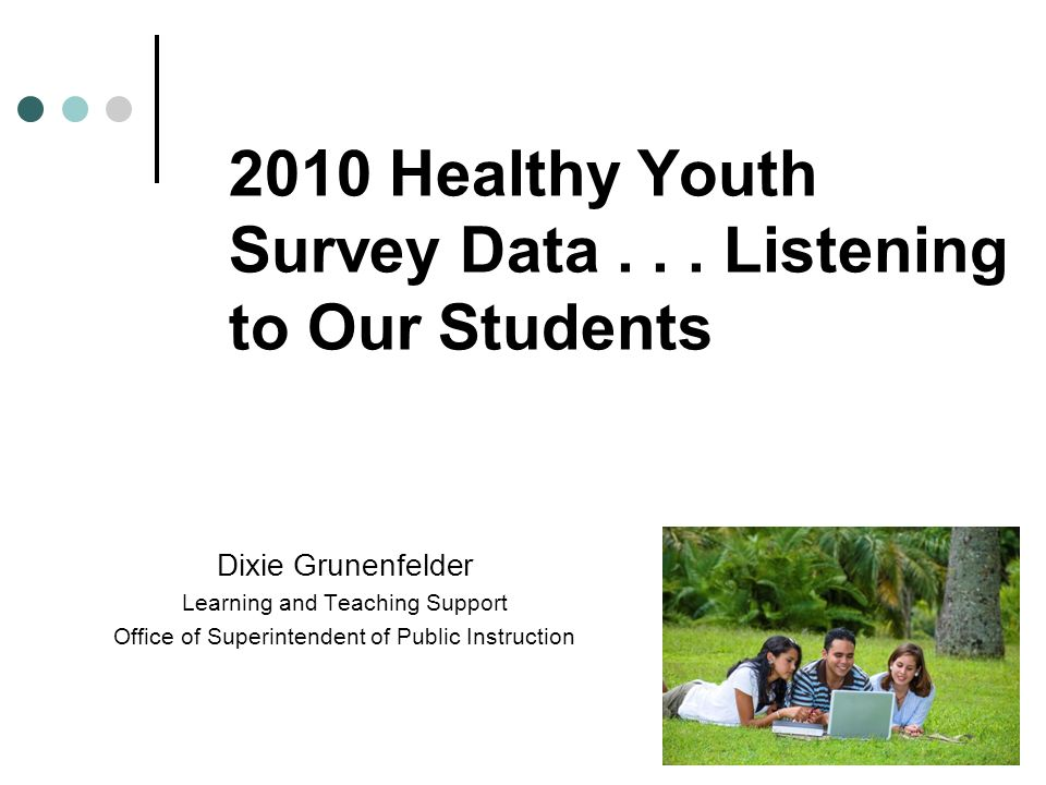 2010 Healthy Youth Survey Data...