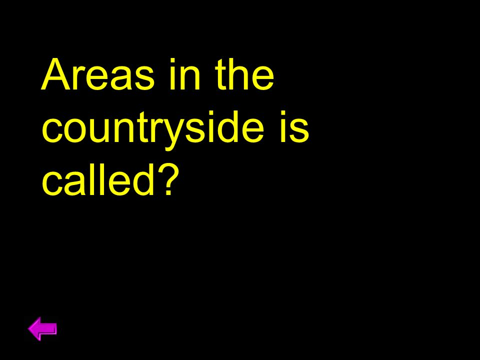 Areas in the countryside is called