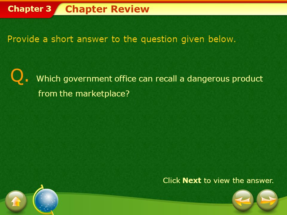 Chapter 3 Chapter Review Q.