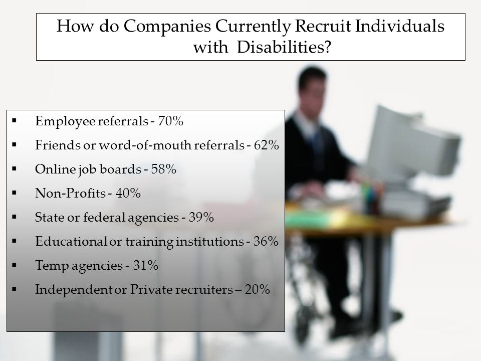 How do Companies Currently Recruit Individuals with Disabilities.