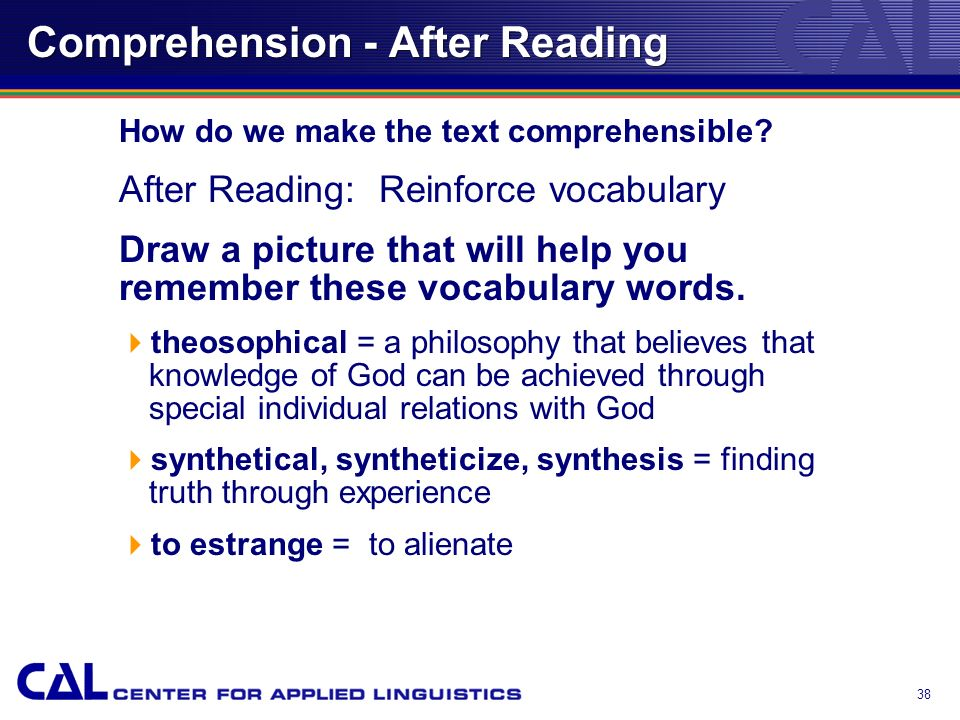 37 Comprehension - During Reading And this we know was the task that Valentinus set before him as his goal.