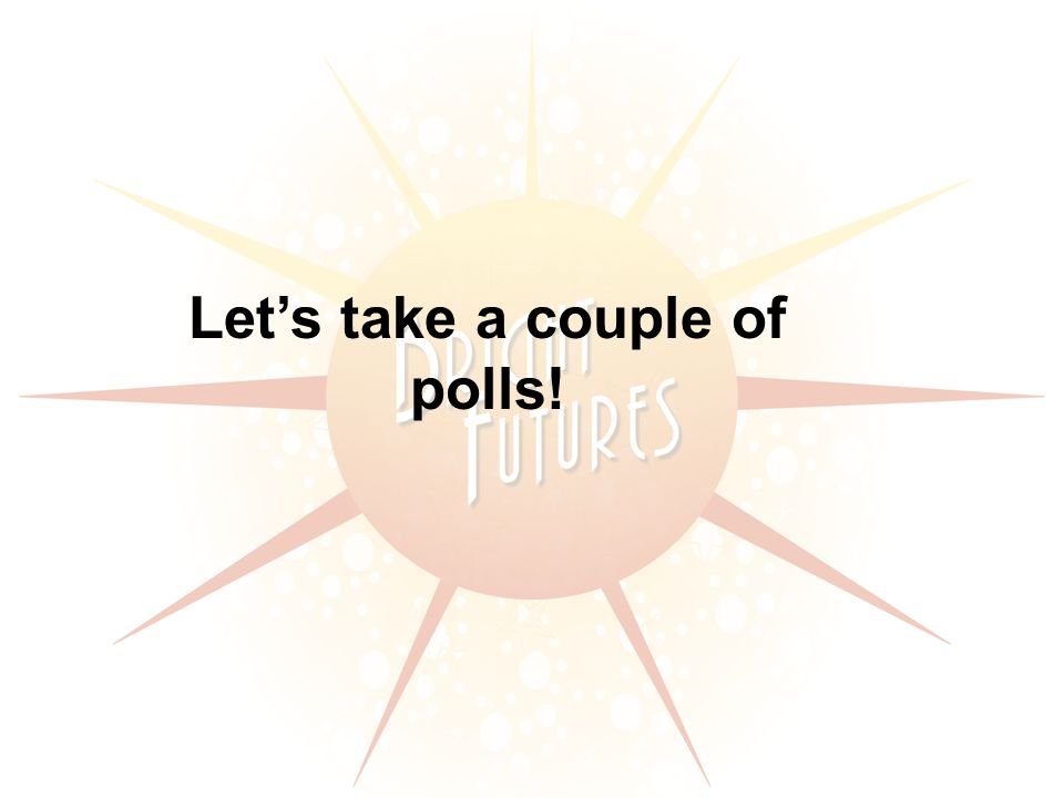 Lets take a couple of polls!