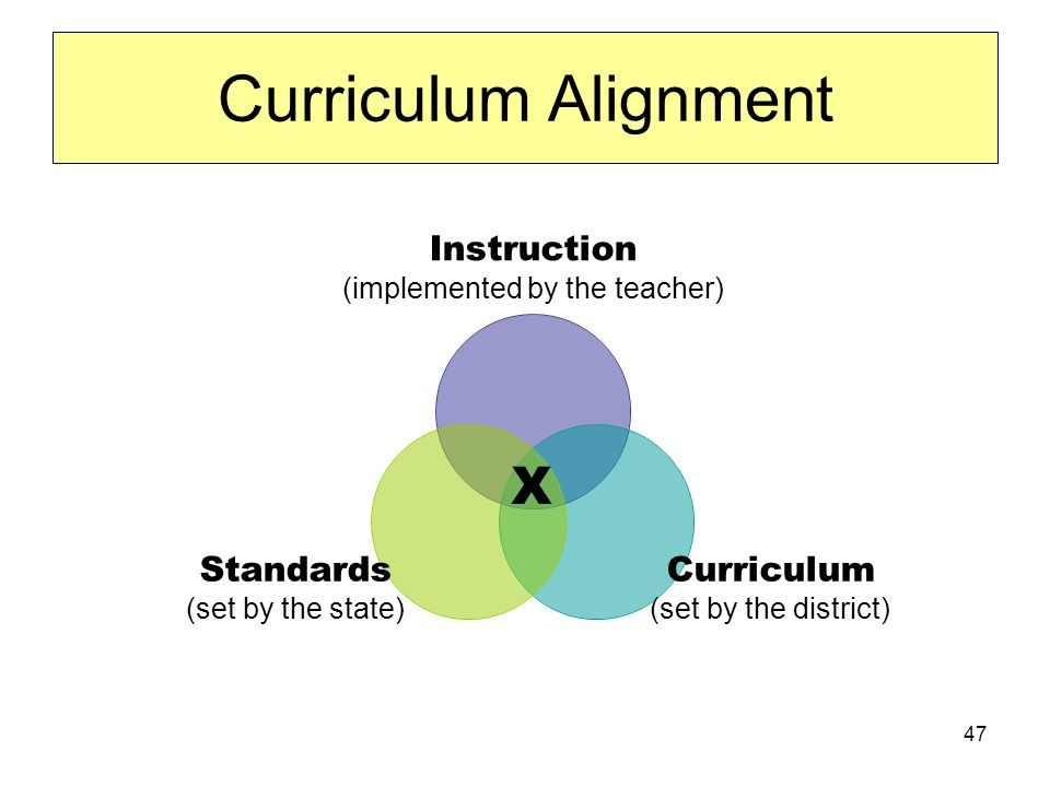 47 Curriculum Alignment X