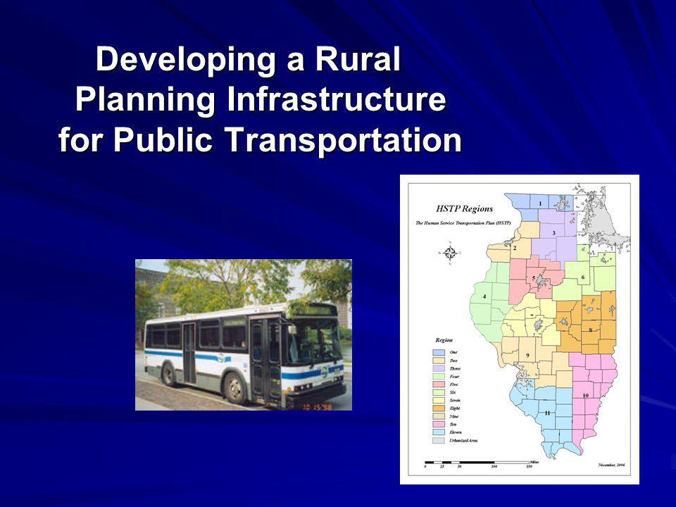 Developing a Rural Planning Infrastructure for Public Transportation