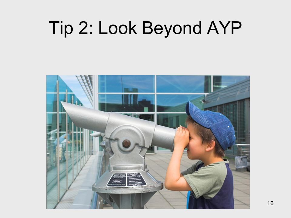 16 Tip 2: Look Beyond AYP