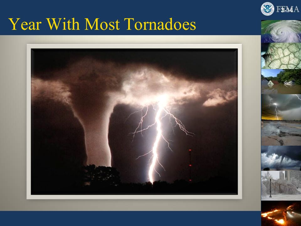 Year With Most Tornadoes 3-14
