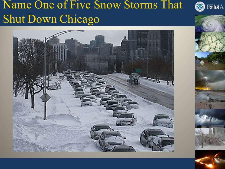 Name One of Five Snow Storms That Shut Down Chicago 3-18