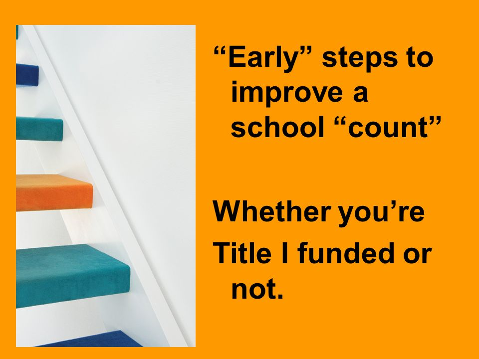Early steps to improve a school count Whether youre Title I funded or not.