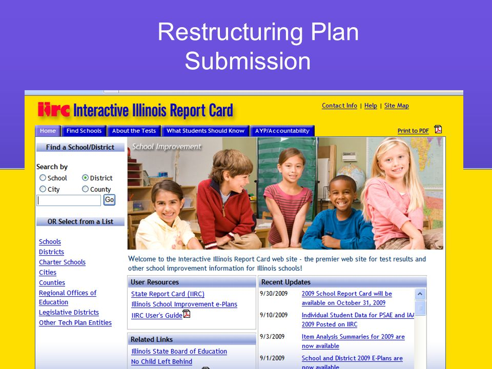 Restructuring Plan Submission