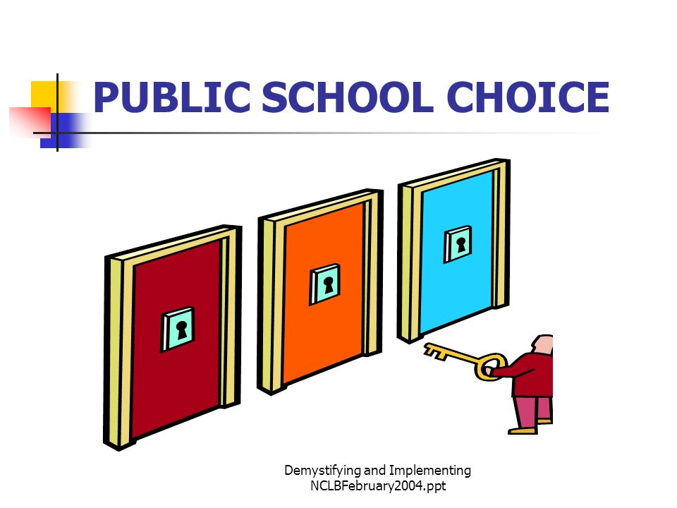 Demystifying and Implementing NCLBFebruary2004.ppt PUBLIC SCHOOL CHOICE