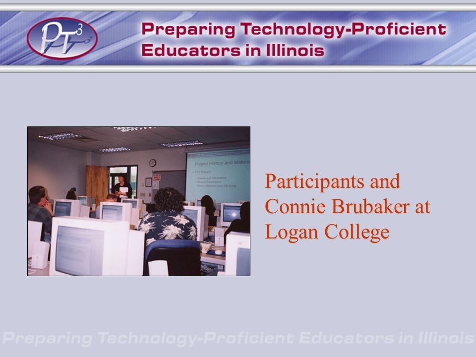 Participants and Connie Brubaker at Logan College