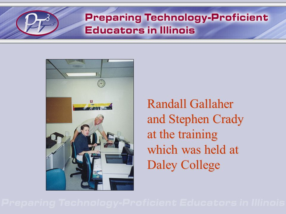 Randall Gallaher and Stephen Crady at the training which was held at Daley College