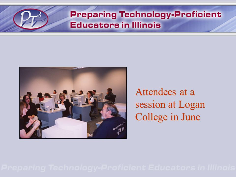 Attendees at a session at Logan College in June