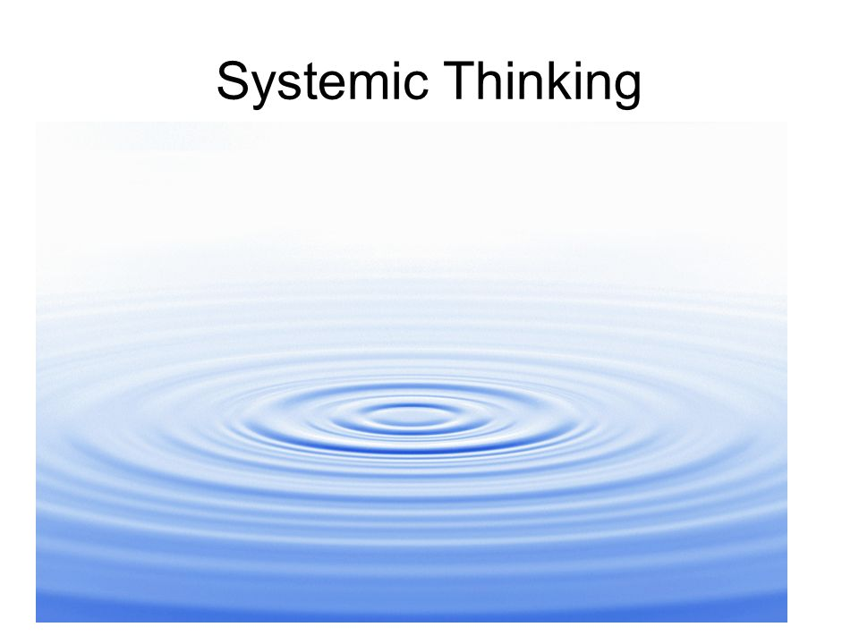 Systemic Thinking Requires rowing in the same direction