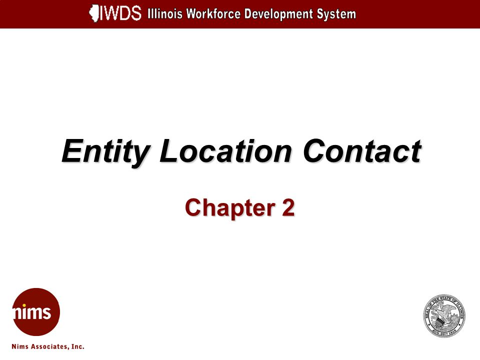 Entity Location Contact Chapter 2