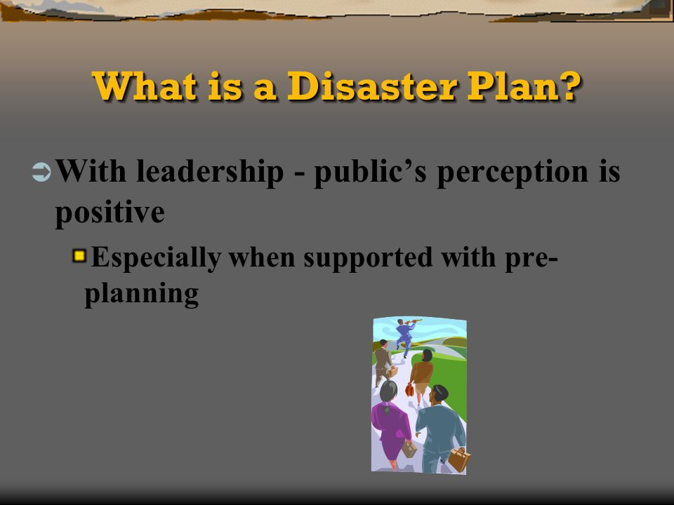 What is a Disaster Plan.