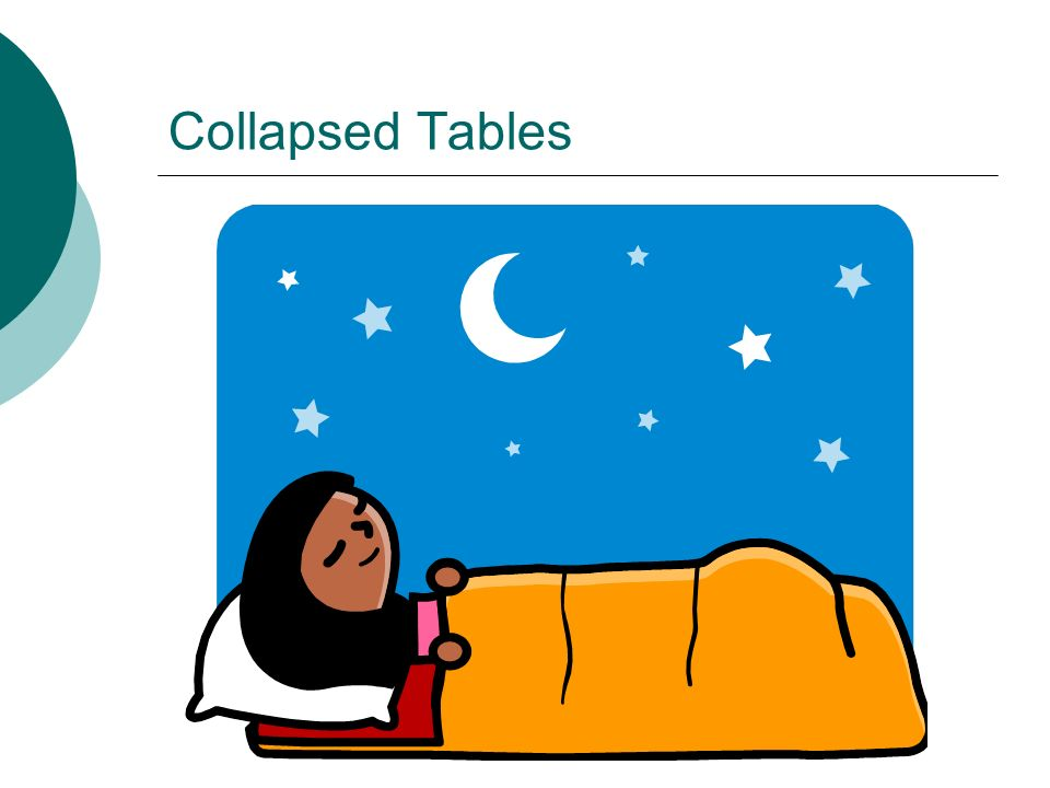 Collapsed Tables
