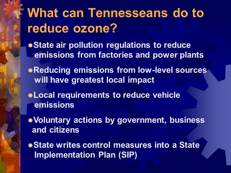 What can Tennesseans do to reduce ozone.