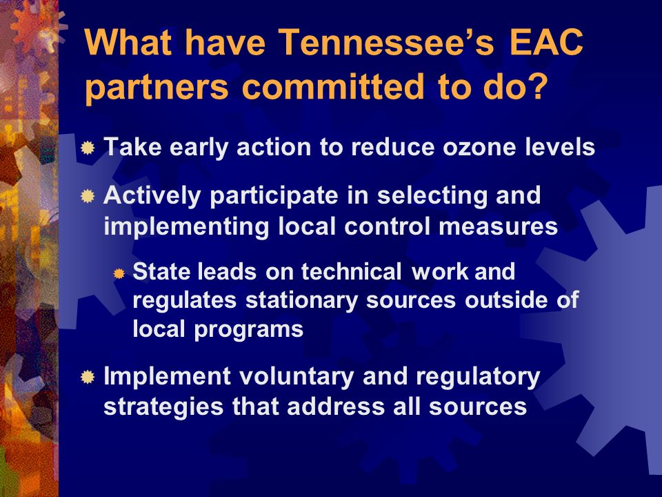 What have Tennessees EAC partners committed to do.