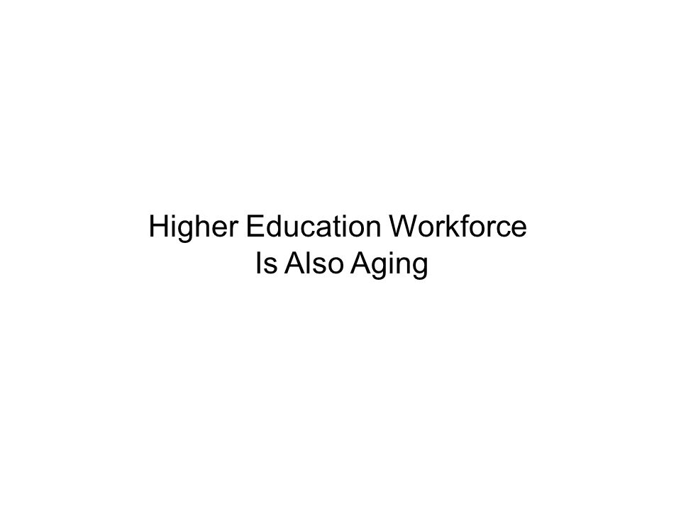 Higher Education Workforce Is Also Aging