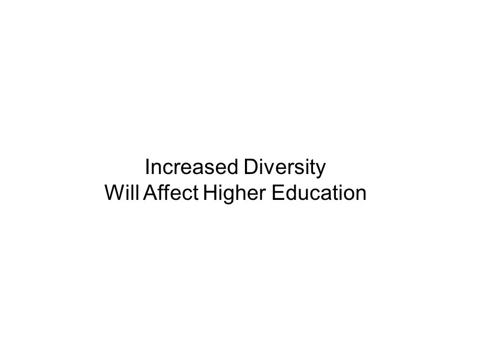 Increased Diversity Will Affect Higher Education