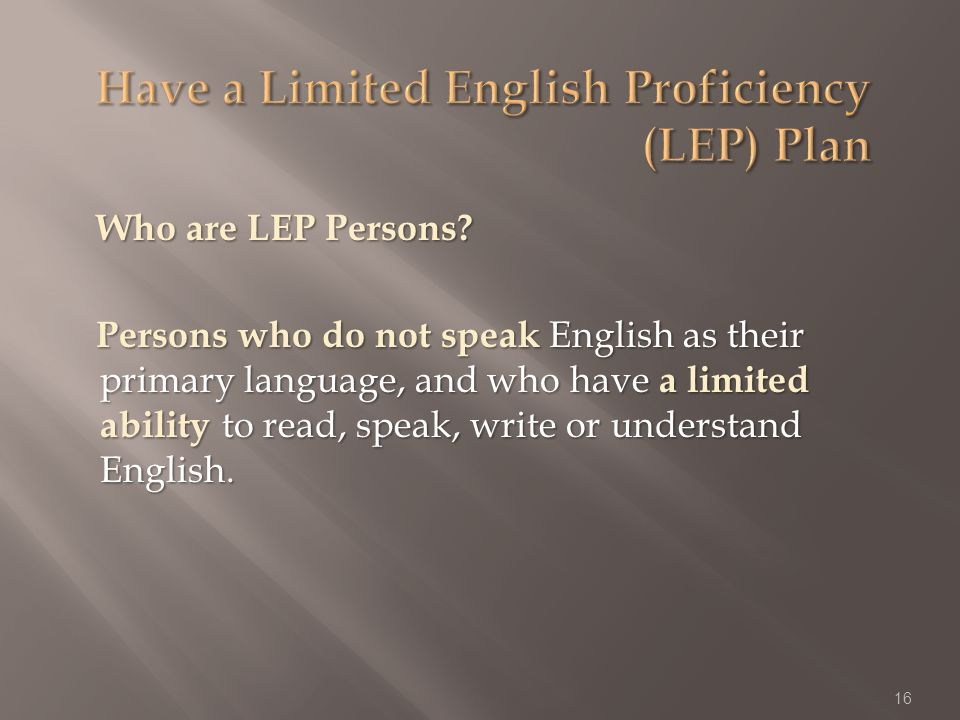 Who are LEP Persons.
