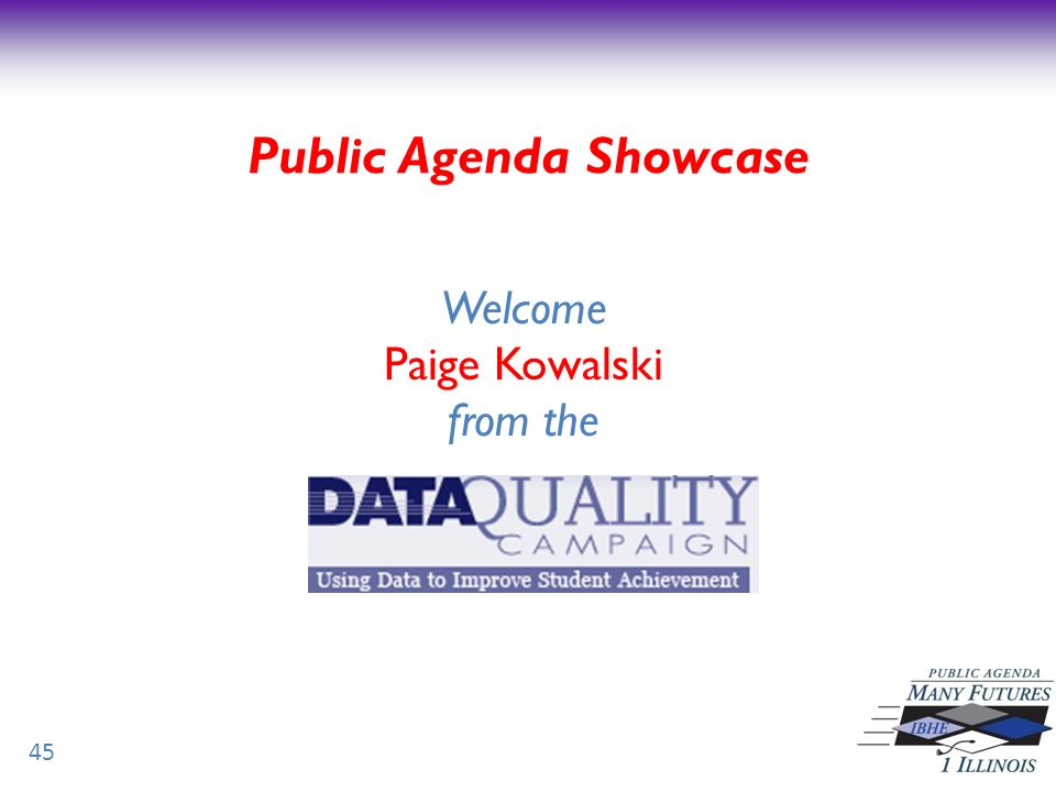 Public Agenda Showcase 45 Welcome Paige Kowalski from the