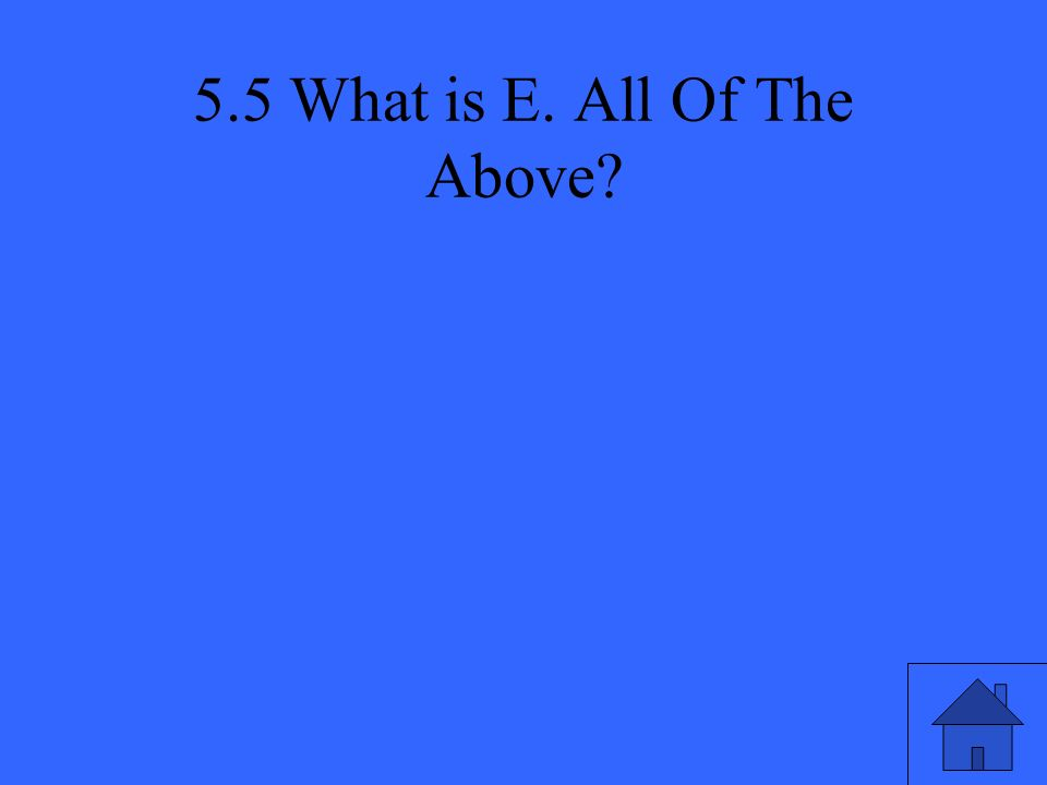 5.5 What is E. All Of The Above