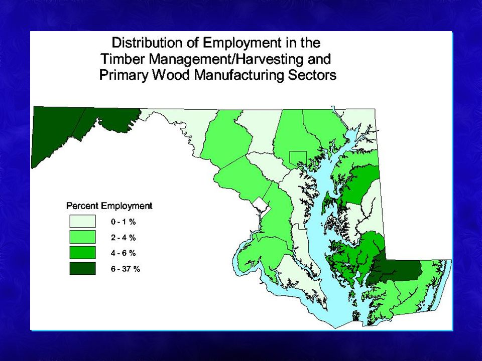 Relative employment logging and mills