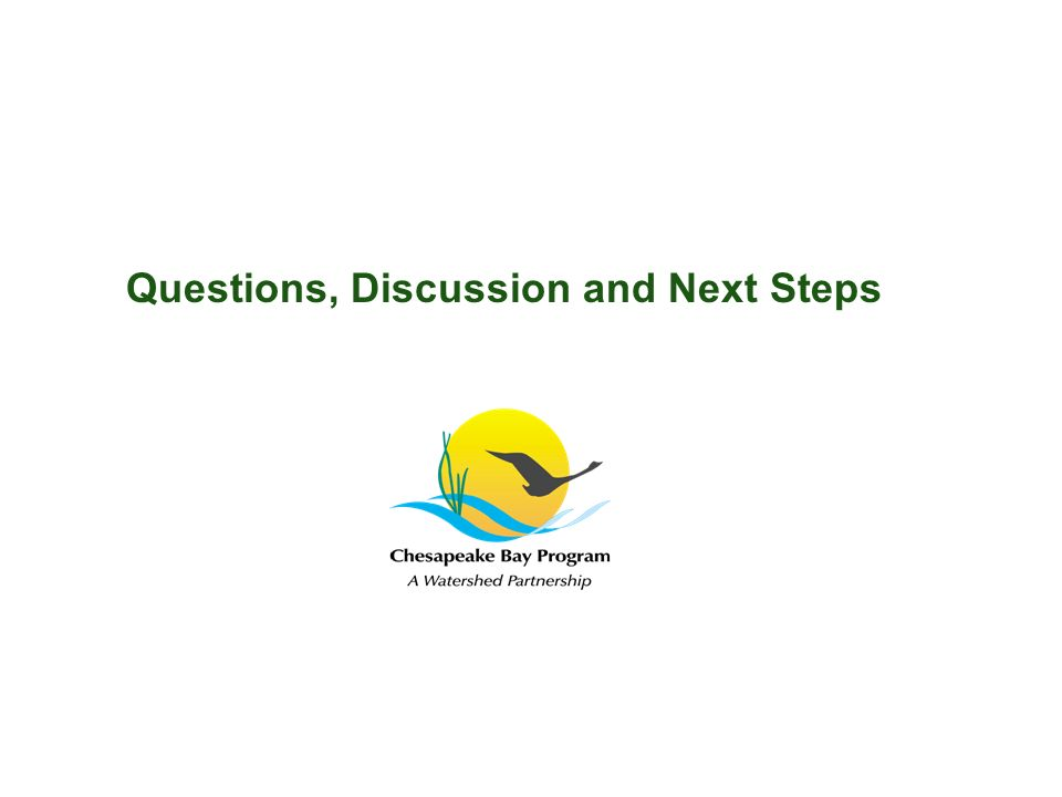 Questions, Discussion and Next Steps