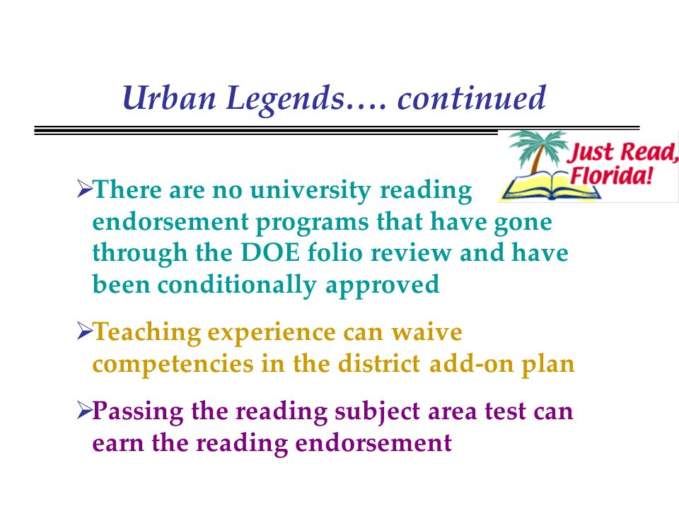 Urban Legends….