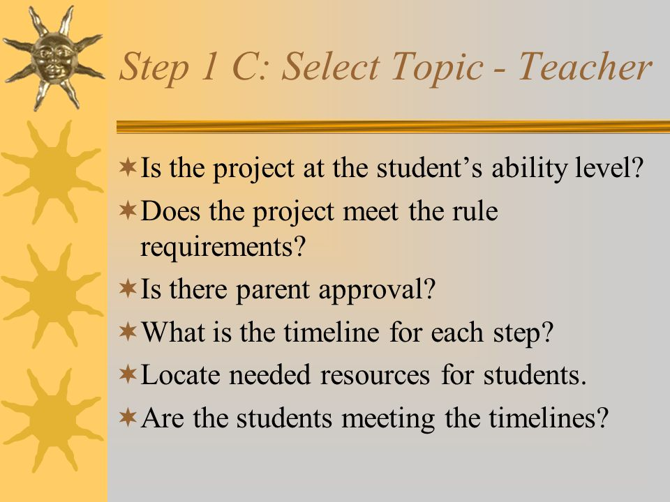 Step 1B: Select Topic - Parent Should I help with the selected topic.