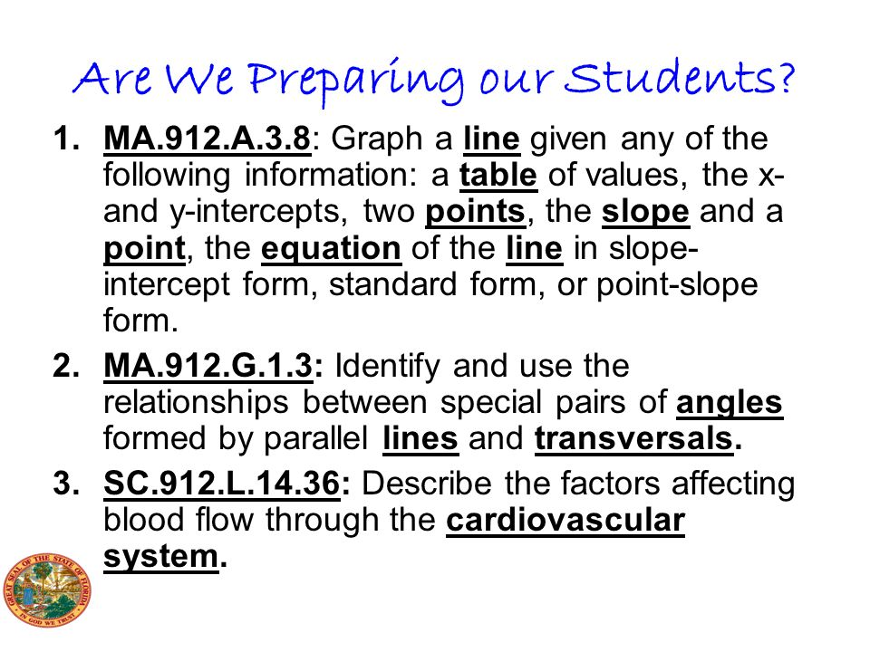 Are We Preparing our Students.