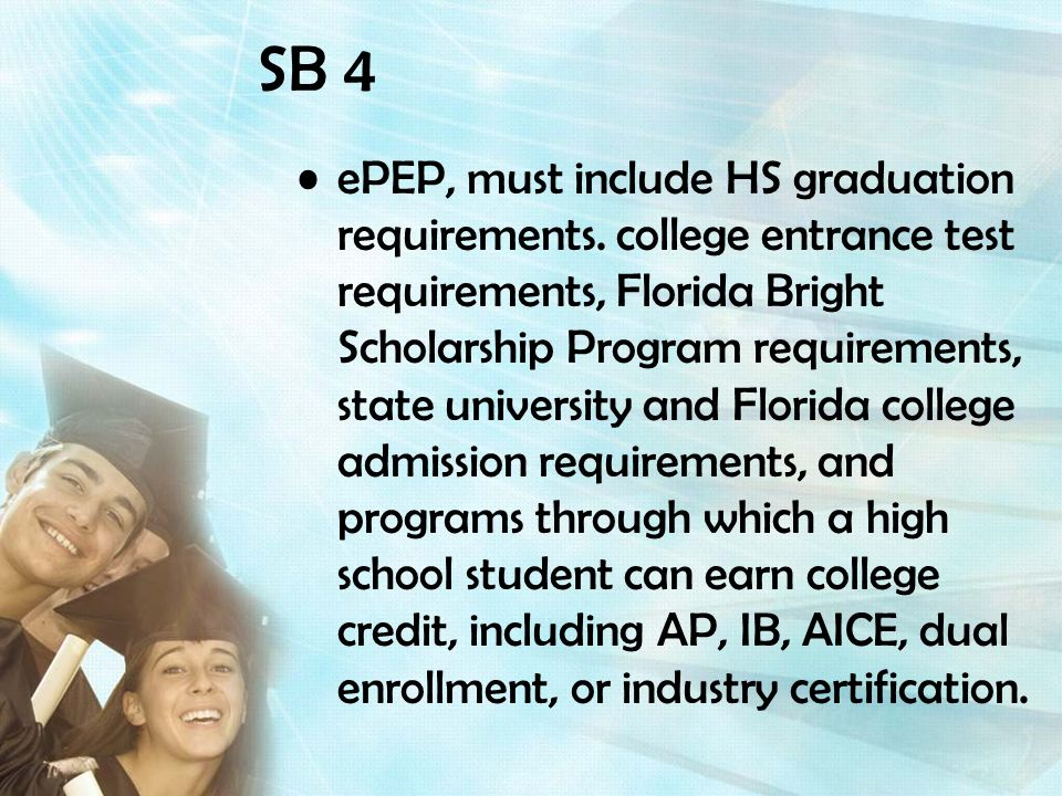 ePEP, must include HS graduation requirements.