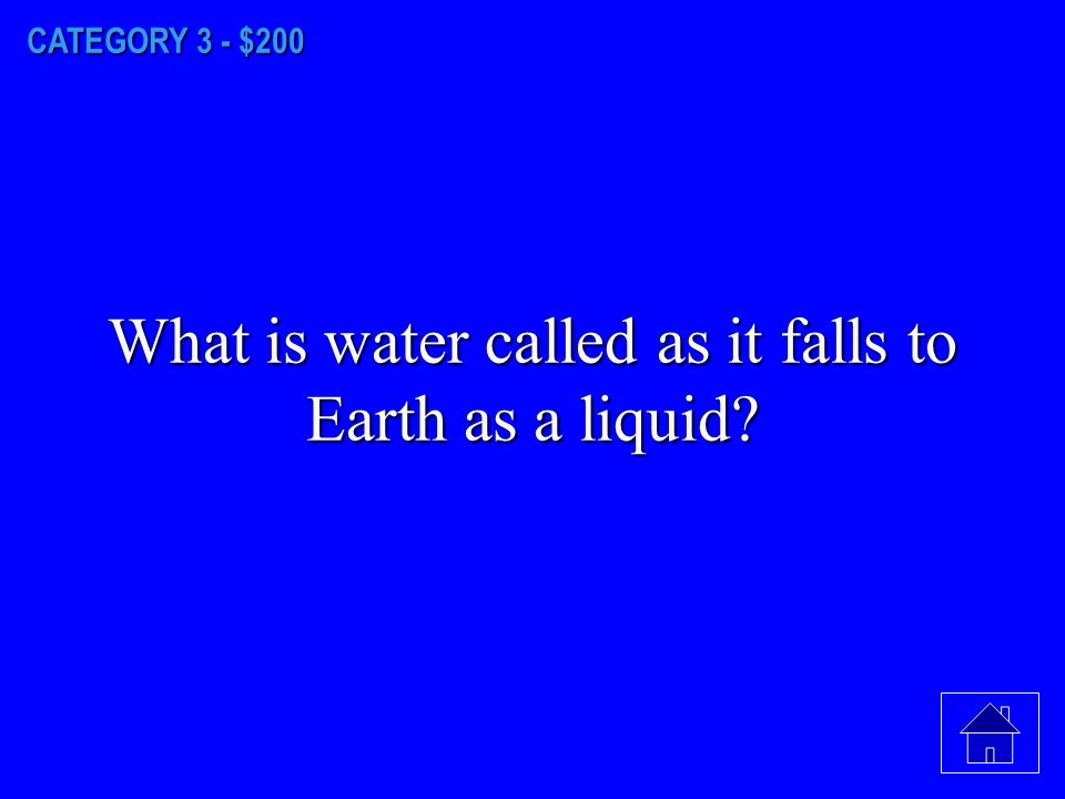 CATEGORY 3 - $100 What do you call the gas form of water