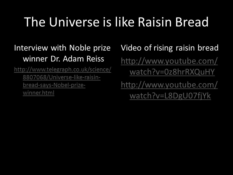 The Universe is like Raisin Bread Interview with Noble prize winner Dr.