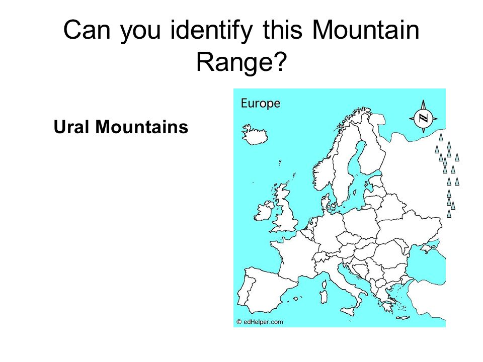 Can you identify this Mountain Range Ural Mountains