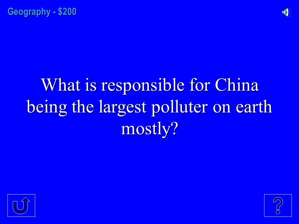 Geography - $100 Country with very few natural resources in East Asia