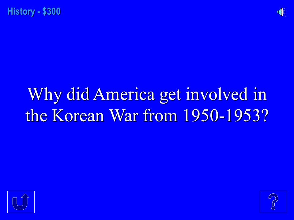 History- $200 After World War 2, Korea was controlled by the Soviet Union in the North and who controlled the Southern part of the peninsula