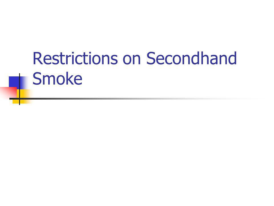 Restrictions on Secondhand Smoke