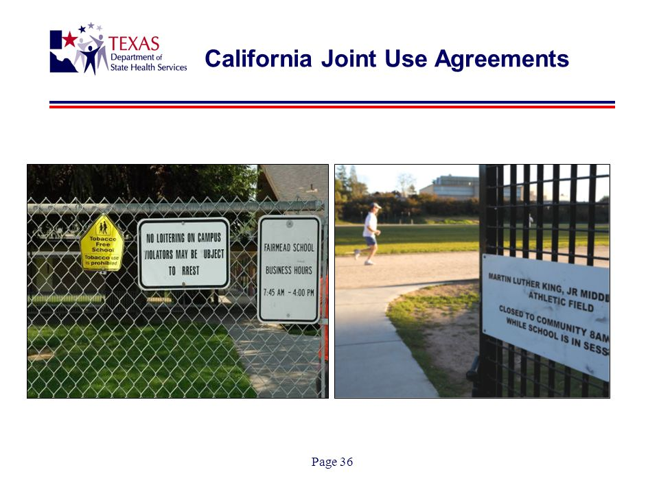 Page 36 California Joint Use Agreements