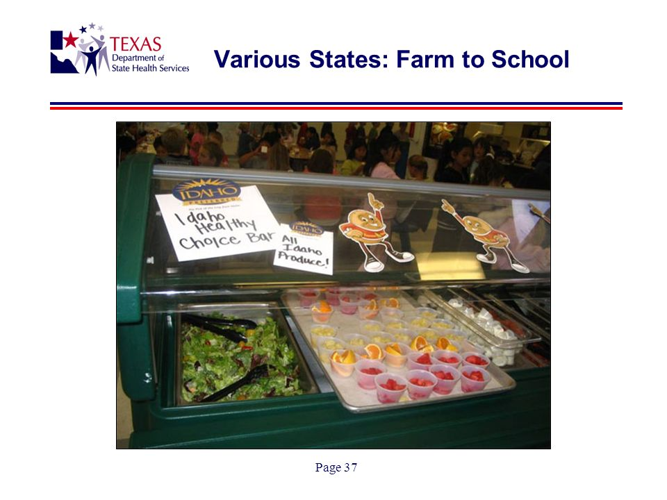 Page 37 Various States: Farm to School