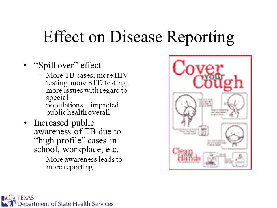 Effect on Disease Reporting Spill over effect.